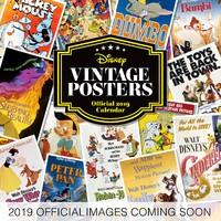Disney Vintage Posters 2019 Square Wall Calendar