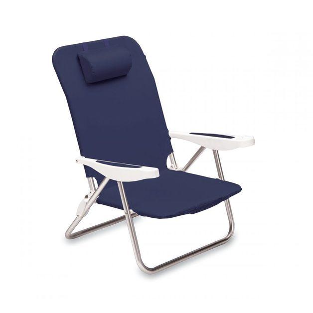 Monaco Fold & Go Beach Chair - Navy Blue