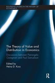 The Theory of Value and Distribution in Economics by Pierangelo Garegnani