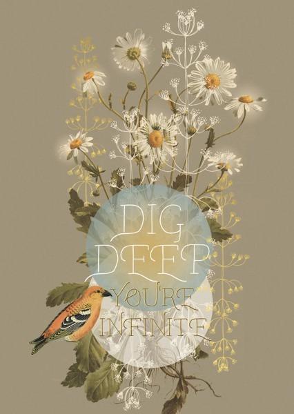 Papaya: Dig Deep Daisy Foil Greeting Card