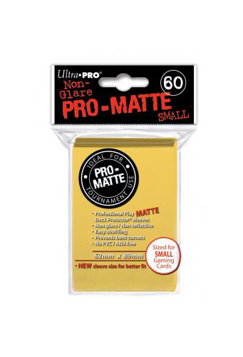 Ultra Pro: Pro-Matte Small Deck Protector Sleeves - Yellow