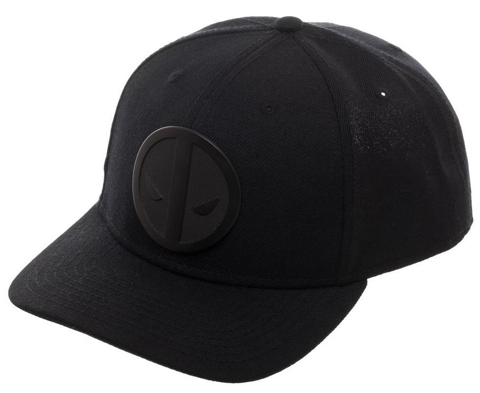 03f0dca230286 Marvel  Deadpool Metal Badge - Curved Snapback Cap image ...