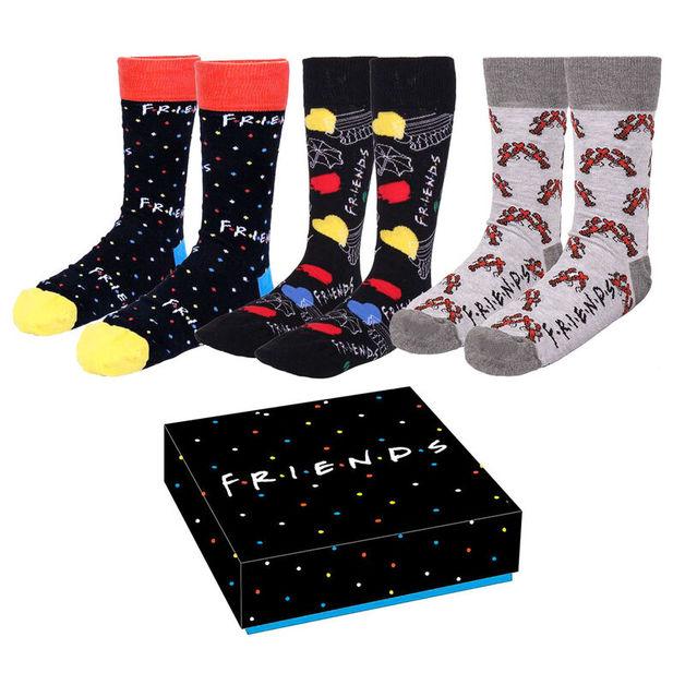 Friends: Mens Socks 3-Pack - (Size: 40/46)