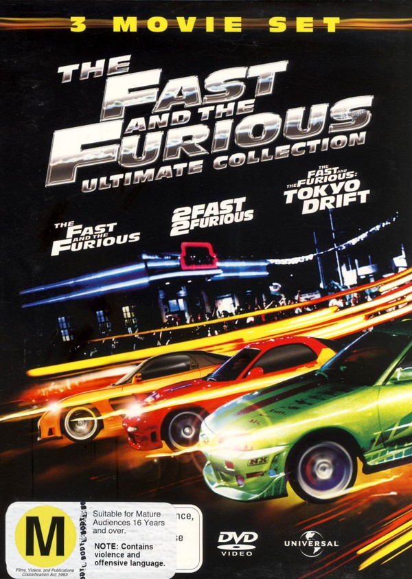 Fast And The Furious Ultimate Collection, The - 3 Movie Set (3 Disc Box Set) on DVD image