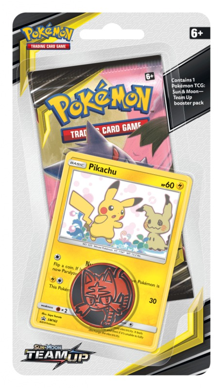 Pokemon TCG: Sun & Moon Team Up - Checklane Blister (Pikachu)