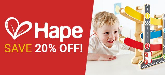 20% off Hape!