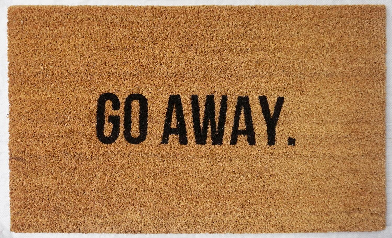 Natural Fibre Doormat - Go Away image