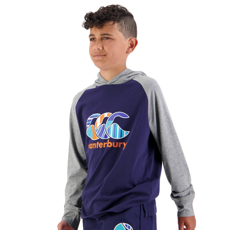 Boys Uglies LS Hood Tee - Peacoat (Size 16) image