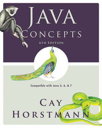 Java Concepts by Cay S. Horstmann image
