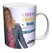 Parks & Recreation Friends, Waffles, Work Mug (325ml)