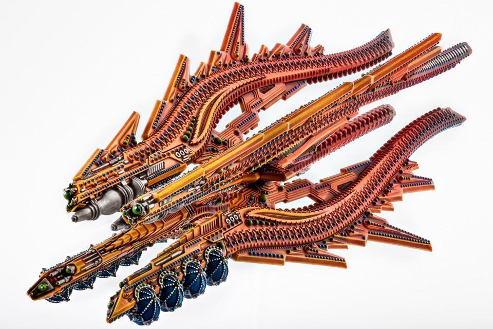 Dropfleet Commander: Shaltari Battlecruiser - Ruby/Sapphire image