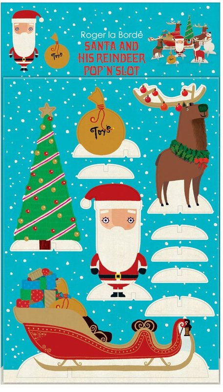 Roger La Borde: Pop & Slot Christmas Decoration - Santa & His Reindeer