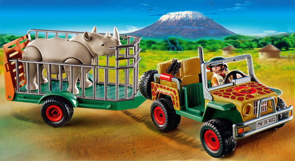 Playmobil Ranger's Vehicle with Rhino (Age 4+)