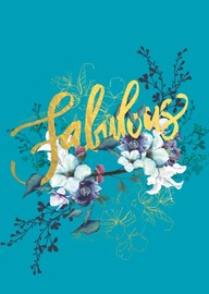 Papaya: Jewel Flower Foil Greeting Card