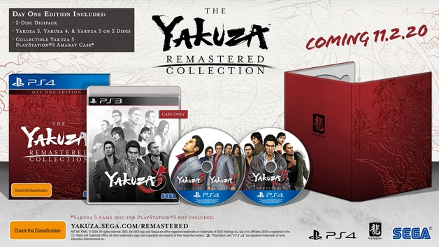 The Yakuza Remastered Collection Day One Edition for PS4