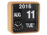 Karlsson: Calendar Clock Mini Flip - Wood (Small)