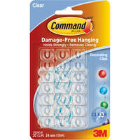 Command Clear Decorating Clips with Clear Strips (20 Pack) image