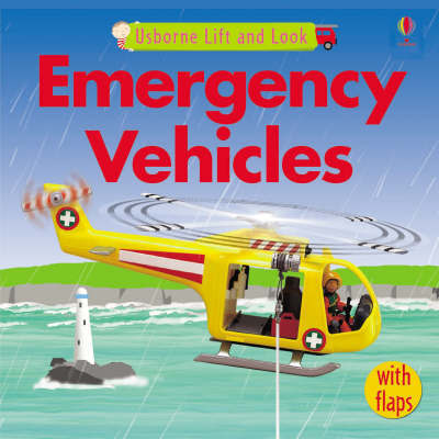 Usborne Lift and Look Emergency Vehicles by Felicity Brooks image