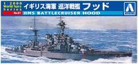 Aoshima: 1:2000 HMS Battlecruiser Hood - Scale Model