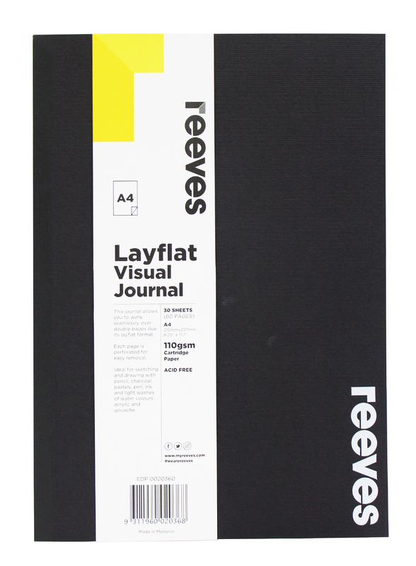 Reeves: A4 Layflat Visual Journal - Black Cover