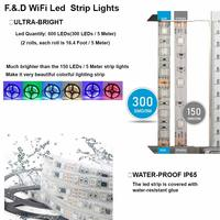 Ape Basics WiFi Wireless Smart Phone Controlled Light Strip - 10 Meters image