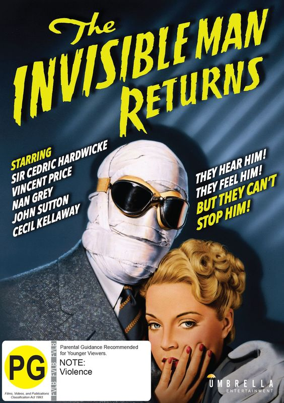 The Invisible Man Returns on DVD