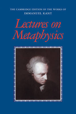 Lectures on Metaphysics by Immanuel Kant image