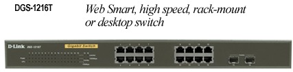 D-Link Web Smart 16-Port 10/100/1000+2 Combo SFP Switch