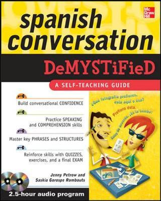 Spanish Conversation Demystified with Two Audio CDs by Jenny Petrow image