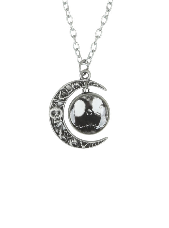 Neon Tuesday: Nightmare Before Christmas - Jack & Moon Necklace