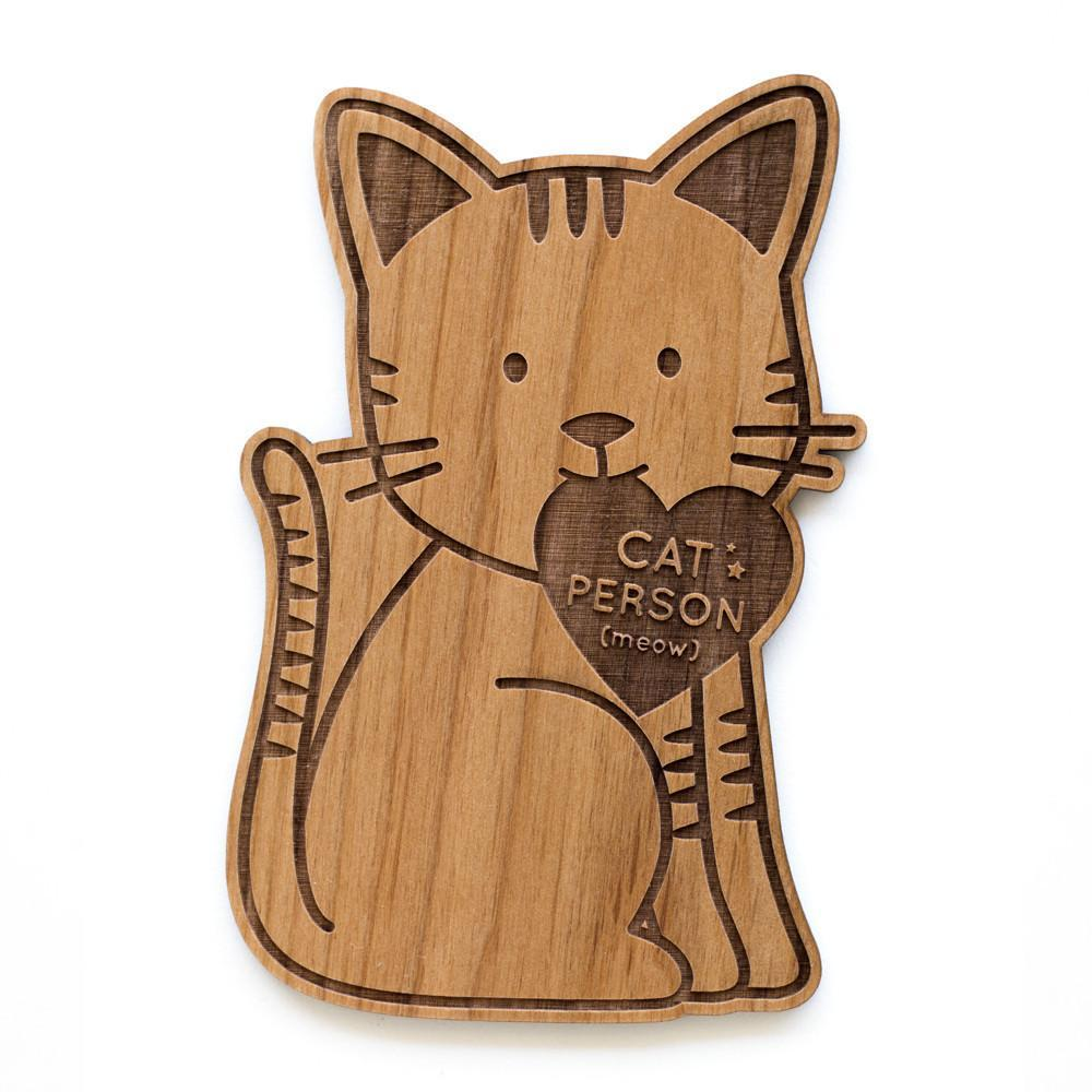 Cardtorial Wooden Card - Cat Person image