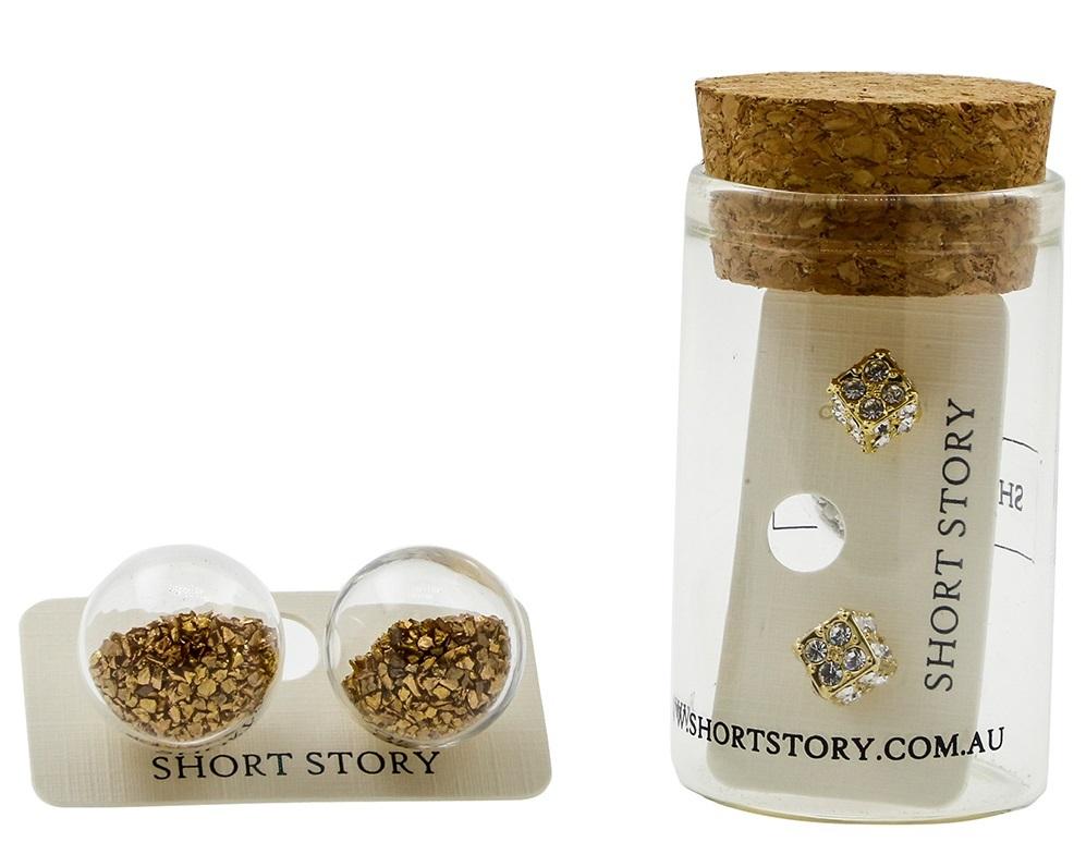 Fantasy Bubble Earrings - Confetti Gold image