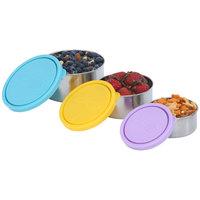 Kids Konserve: Nesting Trio Stainless Steel Containers - Sky