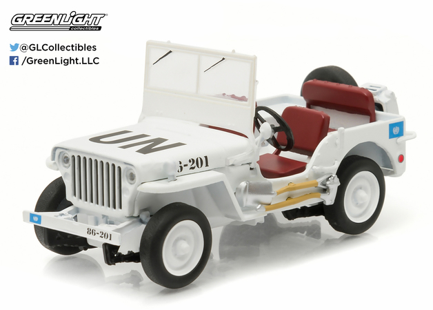 1/43: Willies Jeep MB - UN Livery - Diecast Model
