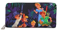 Loungefly: Peter Pan - Print Zip-Around Wallet