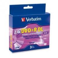 Verbatim DVD+R DL 8.5GB 3PK Jewel Case 2.4x image