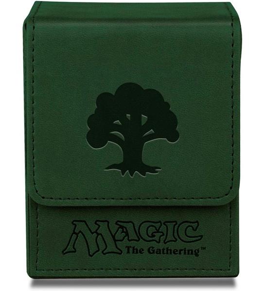 Ultra Pro: Magnetic Leatherette Flip Box - Green Mana