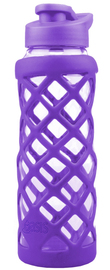 Oasis Glass Water Bottle - Purple (700ml)