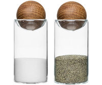 Sagaform Oval Oak Salt & Pepper Shakers (Set of 2)