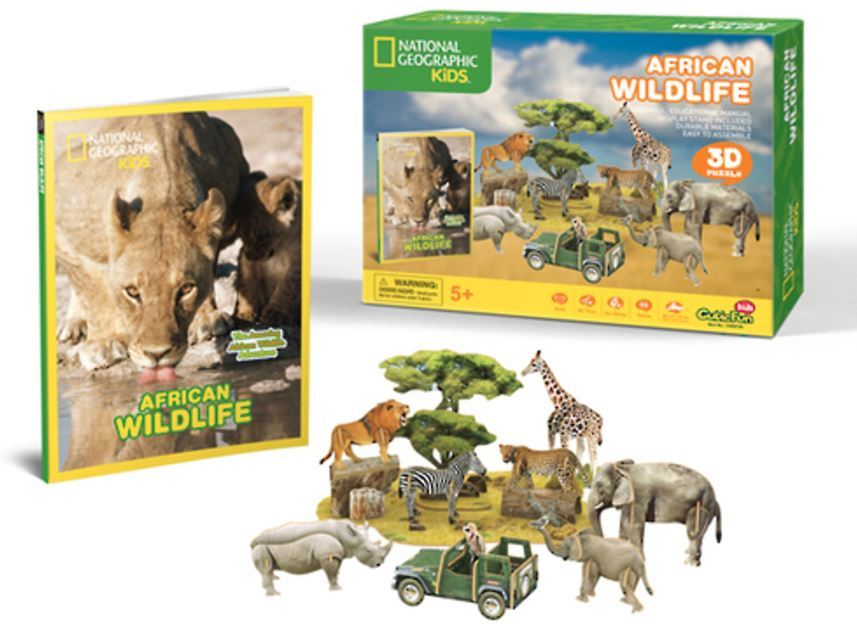 National Geographic Kids: African Wildlife - 69 Piece 3D Puzzle image