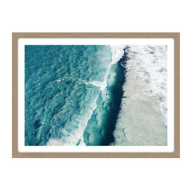 Surfer Glass Framed Print (60x80cm)