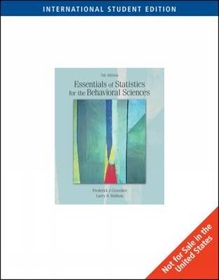 Essentials of Statistics for the Behavioral Sciences (Ise) by Larry B Wallnau image