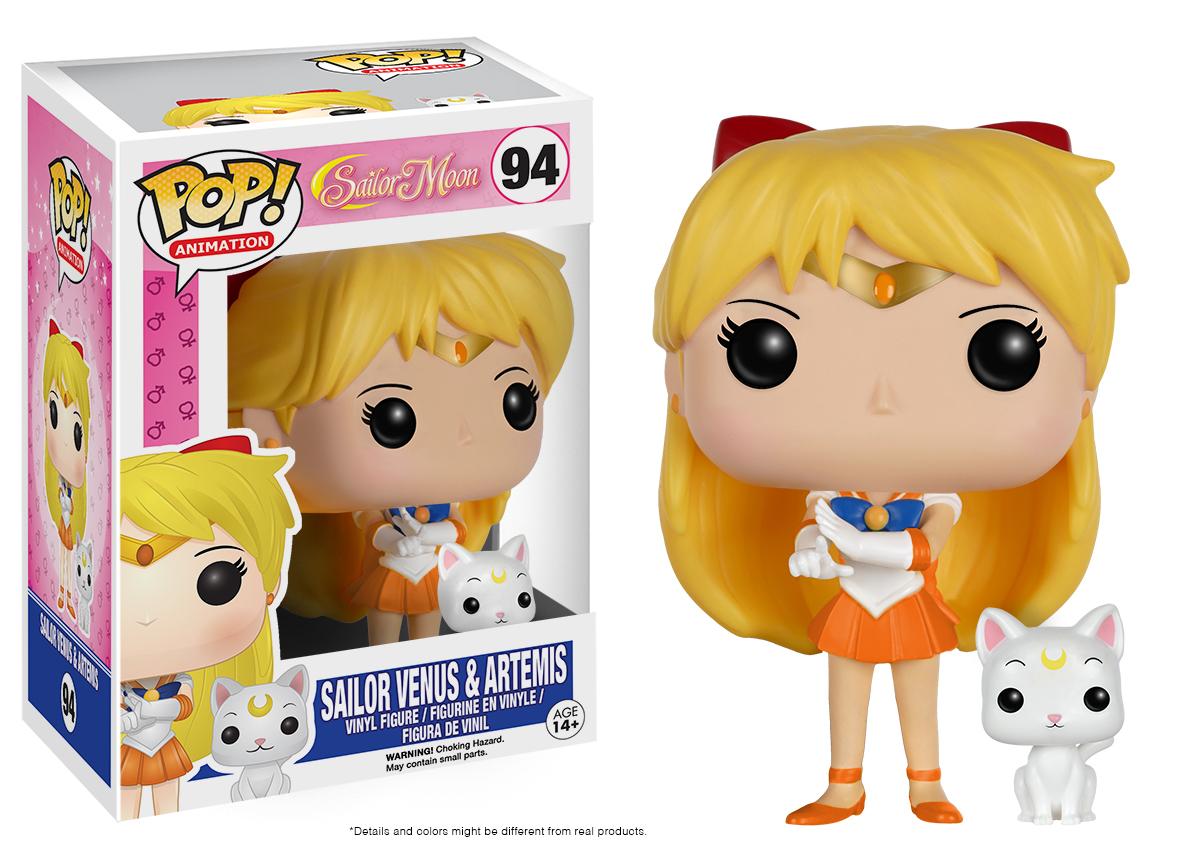 Sailor Moon - Sailor Venus w/ Artemis Pop! Vinyl Figure image