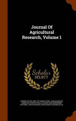 Journal of Agricultural Research, Volume 1