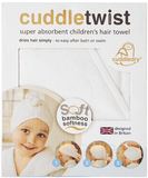 Cuddletwist Bamboo Hair Towel - White
