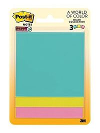 Post-it: Super Sticky Notes - Miami Collection (3 Pack)