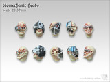Tabletop-Art: Biomechanic Heads - Parts Set