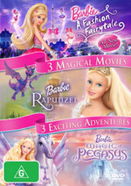 Barbie - Barbie in a Fashion Fairytale / Barbie: Magic of Pegasus/ Barbie as Rapunzel (3 Disc Set) on DVD