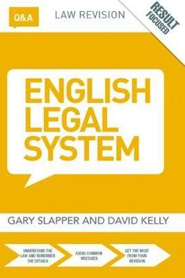 Q&A English Legal System by Gary Slapper image