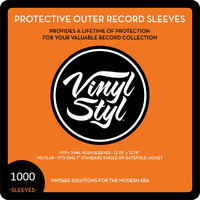 "Vinyl Styl: Protective Outer Record Sleeve - 12.75"" (1000 Bulk Pack)"